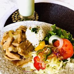 お家ごはん/朝ごはん/手作り/元気ご飯/朝からしっかり食べたい/暮らし 朝ごはん  夏バテしないように 朝しっか…