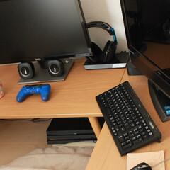 ゲーム/PC/ニトリ/L字型/我が家のテーブル 我が家のゲーム&PCデスク ニトリの机を…