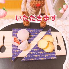 おうちカフェ 子供が好きな白餡で初のいちご大福 白玉粉…(2枚目)