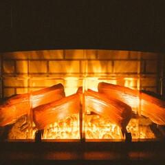 リミアの冬暮らし 暖炉型ヒーター