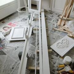 DIY/シャビーシック/賃貸マンション/収納スペース/原状回復出来ます/収納棚を作る/... ~収納スペースを作る~『洋室編⑳』
