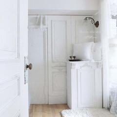 DIY/賃貸マンション/原状回復できます/シャビーシック/ホワイトシャビー/寝室 ~Shabby chic style H…