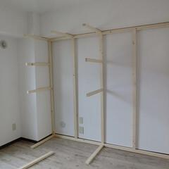 収納スペース/DIY/賃貸マンション/原状回復できます/シャビーシック 『収納スペース』作りますよ~。