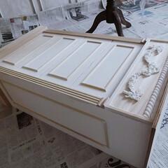 シャビーシック/DIY/棚/端材/モールディング/ホワイトインテリア/... 『端材で作る』  あともうちょっと・・・…