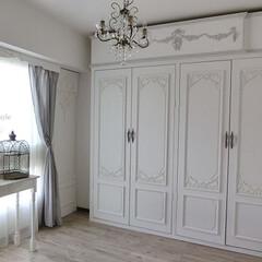 DIY/賃貸マンション/シャビーシック/収納/収納スペースをつくる/窓/... 『収納スペースをつくる!!』  ついに・…
