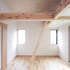子供室/ロフト/2室化/分割/高天井 西荻の家-子供室 (将来の2室化を考慮し…