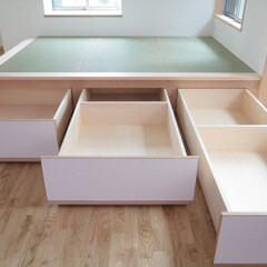 畳下収納/収納ボックス/畳下引き出し 西荻の家-畳下収納 (3帖の畳コーナーの…