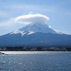 雲/山中湖/富士山/おでかけ 昨日に引き続き…  山中湖からの富士山で…