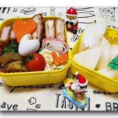 お昼ごはん/ランチ/クリスマス雑貨/女子高生のお弁当/お弁当のおかず/娘のお弁当/... 今日の娘のお弁当🍱🍴  ⸜❤︎⸝チーズ…