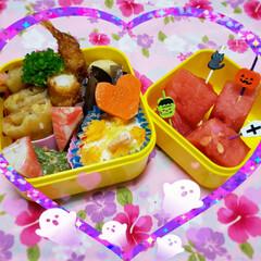 お弁当/昼食/ランチ/女子高生のお弁当/お弁当のおかず/娘のお弁当/... 今日の娘のお弁当🍴🍱♬*  ⸜❤︎⸝春…