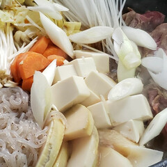 なんちゃってレシピ/我が家の夕食/すき焼き風 今夜は 冷蔵庫にあった野菜で なんちゃっ…(2枚目)