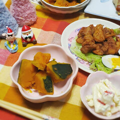 夕食のおかず/おかず/冬至/ゆず湯/かぼちゃの煮物/かぼちゃ/... 今日は 冬至だったので…  かぼちゃの煮…