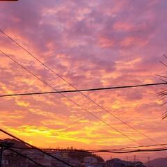 リミアな暮らし/朝焼け/フォロー大歓迎/住まい/暮らし/ピンク 今日も素敵な一日になりますように(♥Ü♥…