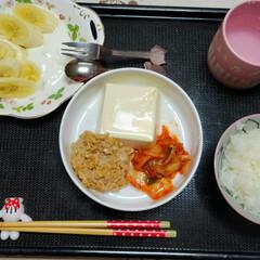 娘の朝食/今日の朝食/朝食記録/おうちごはん 今日娘の朝食⸜ 🍚🍴⸝  ⸜❤︎⸝ご飯…(1枚目)