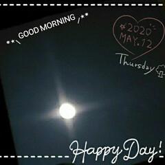 明るい光/夜空/綺麗な月/リミアのある暮らし/リミアな暮らし/フォロー大歓迎/... 今日も素敵な一日になりますように(♥Ü♥…