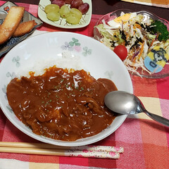 ハヤシライス/我が家の夕食 我が家の夕食🍴✨  ⸜❤︎⸝ハヤシライ…(1枚目)