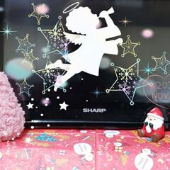 キッチンテレビ/クリスマス雑貨/100均雑貨/100均/百均/サンタさんの居場所/... 今日も素敵な一日になりますように(♥Ü♥…(1枚目)
