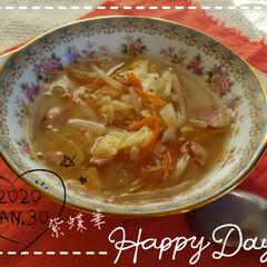 うまい村デイリー 味の素 コンソメ 顆粒 容器 85g x12 | 味の素(だし、ブイヨン、がらスープ)を使ったクチコミ「今日も素敵な一日になりますように(♥Ü♥…」