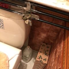 タンクレス/壁紙/トイレ/キャンドゥ/ダイソー/セリア/... 寒いですね トイレですがね、重りを1.5…