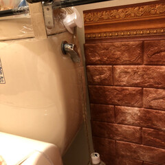 トイレ/タンクレス/DIY/アイディア/100均 トイレですが… 引っ張りレバーにしようと…