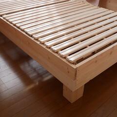ベッド/木工/DIY/住まい スノコベッド  柔らかいのがダメなので選…