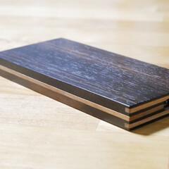 クラフト/黒檀/スマホケース/木工 作り直し😱😱😱 先週作ったばかりなのに、…