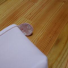 レザークラフト/ポーチ/ピンク/コイン入れ ピンク色のポーチ  ピンク色のレザーでポ…(3枚目)