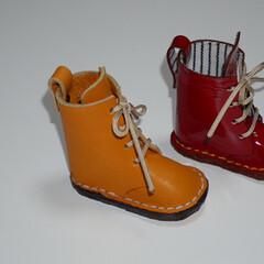 レザークラフト/DIY/雑貨/ハンドメイド 長靴みたいなブーツ  実は少し大きいんで…(2枚目)