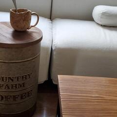 サイドテーブル/ドラム缶 今日購入した、サイドテーブル缶 2500…