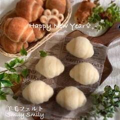 インテリア雑貨/羊毛フェルト作品/ハンドメイド好きさんと繋がりたい/羊毛/羊毛フェルト/ニードルフェルト/... 新年 明けましておめでとうございます。 …