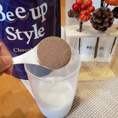 Bee up Style Chocolate風味 | Bee up Style(ソイプロテイン)を使ったクチコミ「まず、牛乳150ml用意して『bee u…」(2枚目)
