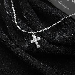 クリスマスプレゼント/彼女/奥さん/妻/ネックレス プレゼント ピカピカ ネックレス レディース クロス…