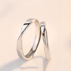 ペアリング/カップル/お揃い/結婚指輪/サプライズプレゼント ペアリング シルバー 指輪 2個セット …