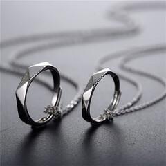 ペアネックレス/記念日プレゼント/指輪/カップル/おすすめ ペアネックレス カップル シルバー925…