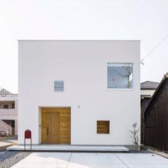 四角い家/外観/デザインハウス/施工事例/オーダーメイド/設計事務所/... 建築家 松月浩子さんの建てる家をご紹介 …
