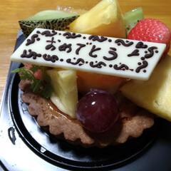 厚切りタン/プレゼント/ケーキ/お外ごはん/バーベキュー/パートナーさん/... 今日は 歳を取りました👵  昼は パート…(2枚目)