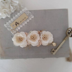 お花のアクセサリー/ハンドメイド/ファッション/リミアの冬暮らし 少し前にオーダーいただいたお花のブローチ…