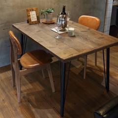 テーブル/オシャレ/我が家のテーブル ゆったりくつろげるテーブルに!