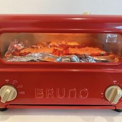 ブルーノ トースターグリル BRUNO Toaster Grill | BRUNO(その他キッチン、台所用品)を使ったクチコミ「2020.03.30 朝食は、余ったミー…」