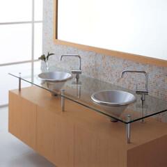 セラトレーディング/洗面/洗面ボウル/水回り/デザイン/バスルーム/... 円錐型のアルミ製手洗器は、 一味違ったデ…