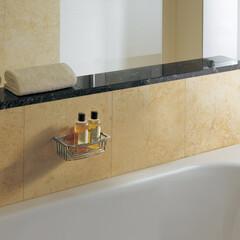 セラトレーディング/バスルーム/壁付き式/リフォーム/シンプル/丁寧な暮らし バスルームの小物類を収納できるアクセサリ…