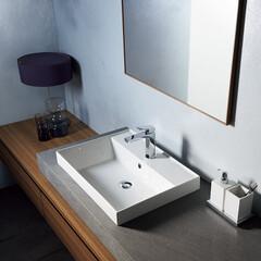 セラトレーディング/洗面ボウル/住まい/家/環境/インテリアコーディネーター/... エッジの効いたデザインの洗面ボウルで、 …