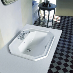 セラトレーディング/バスルーム/洗面ボウル/インテリア/住まい/新築/... 八角形が特徴的なデザインの洗面ボウル。エ…