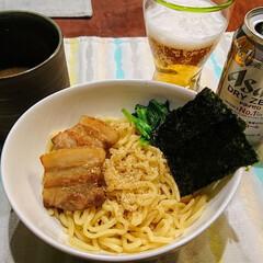 ビール飲みたい/手作りチャーシュー/つけ麺/おうちごはん 我が家では頻繁に食べるつけめん・まぜそば…