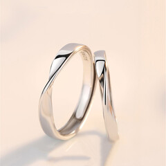 ペアリング/ペア お揃い/結婚指輪 ペアリング シルバー 指輪 2個セット …