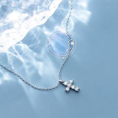 クロスネックレス/女子ネックレス/ネックレス レディース/記念日 ネックレス レディース クロスネックレス…