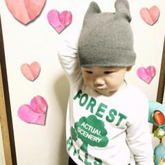 嫌がる帽子/1歳5ヵ月/桜🌸 おはようございます(*´ー`*)皆さんお…