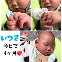 赤ちゃん 一樹 今日で4ヶ月になりました❤️  最…