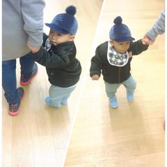 初めてお外で歩く/一歳2ヵ月/赤ちゃん