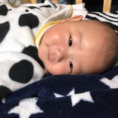 もうすぐ5ヶ月/赤ちゃん おはようございます♡ 夜中の授乳後 なか…(4枚目)